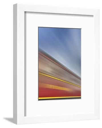 Railway Car, Lettering, Dining Car, Heaven, Sky, Blur-Harald Schšn-Framed Photographic Print