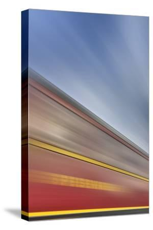 Railway Car, Lettering, Dining Car, Heaven, Sky, Blur-Harald Schšn-Stretched Canvas Print