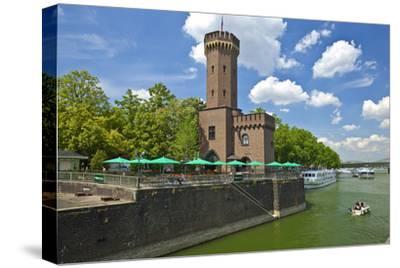 Germany, North Rhine-Westphalia, Cologne, Rhine Shore, Hafenstrasse at the Chocolate Museum-Chris Seba-Stretched Canvas Print