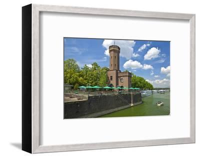 Germany, North Rhine-Westphalia, Cologne, Rhine Shore, Hafenstrasse at the Chocolate Museum-Chris Seba-Framed Photographic Print