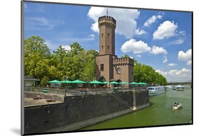 Germany, North Rhine-Westphalia, Cologne, Rhine Shore, Hafenstrasse at the Chocolate Museum-Chris Seba-Mounted Photographic Print