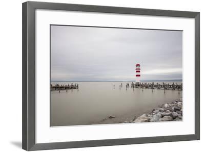 Lighthouse in Podersdorf Am See, Lake Neusiedl, Burgenland, Austria-Gerhard Wild-Framed Photographic Print