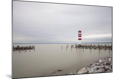 Lighthouse in Podersdorf Am See, Lake Neusiedl, Burgenland, Austria-Gerhard Wild-Mounted Photographic Print