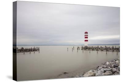 Lighthouse in Podersdorf Am See, Lake Neusiedl, Burgenland, Austria-Gerhard Wild-Stretched Canvas Print