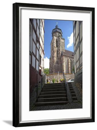 Germany, Hessen, Northern Hessen, Electoral Hesse Mountain Country, Homberg / Efze-Chris Seba-Framed Photographic Print