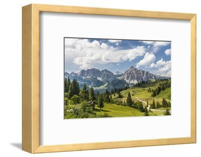 Alp Close Corvara, 'Puezgruppe' (Mountain Range) Behind, the Dolomites, South Tyrol, Italy, Europe-Gerhard Wild-Framed Photographic Print