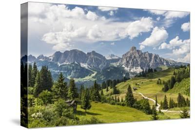 Alp Close Corvara, 'Puezgruppe' (Mountain Range) Behind, the Dolomites, South Tyrol, Italy, Europe-Gerhard Wild-Stretched Canvas Print
