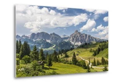 Alp Close Corvara, 'Puezgruppe' (Mountain Range) Behind, the Dolomites, South Tyrol, Italy, Europe-Gerhard Wild-Metal Print