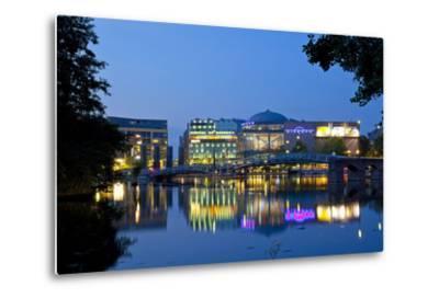 Germany, North Rhine-Westphalia, Cologne, Mediapark, Cinedom, Evening Light-Chris Seba-Metal Print
