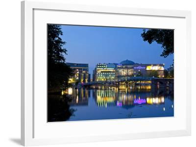 Germany, North Rhine-Westphalia, Cologne, Mediapark, Cinedom, Evening Light-Chris Seba-Framed Photographic Print