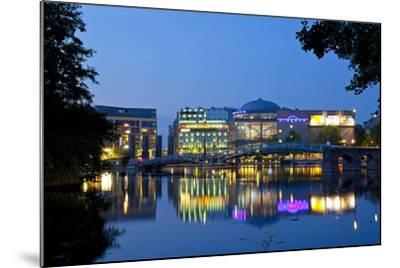 Germany, North Rhine-Westphalia, Cologne, Mediapark, Cinedom, Evening Light-Chris Seba-Mounted Photographic Print