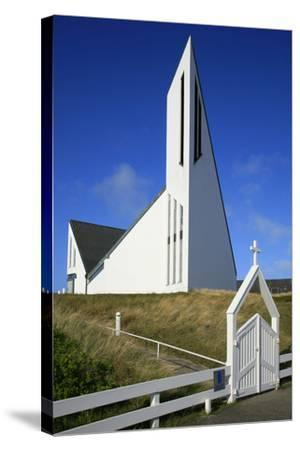 St. Thomas Church in Hornum on the Island of Sylt, the Last Listed Facade of Schleswig-Holstein-Uwe Steffens-Stretched Canvas Print