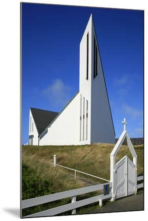 St. Thomas Church in Hornum on the Island of Sylt, the Last Listed Facade of Schleswig-Holstein-Uwe Steffens-Mounted Photographic Print
