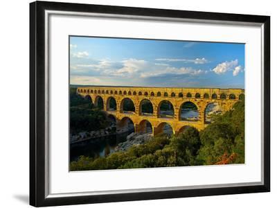 Europe, South of France, Provence, Avignon, Pont Du Gard, Aqueduct-Chris Seba-Framed Photographic Print