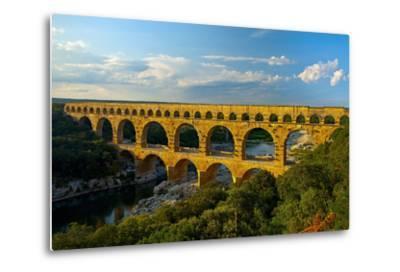 Europe, South of France, Provence, Avignon, Pont Du Gard, Aqueduct-Chris Seba-Metal Print