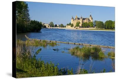 Germany, Western Pomerania, Schwerin Palace-Chris Seba-Stretched Canvas Print
