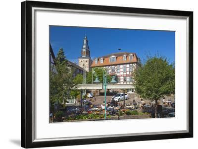 Germany, Hessen, Northern Hessen, Bad Zwesten, Old Town, City Hall, Restaurant-Chris Seba-Framed Photographic Print
