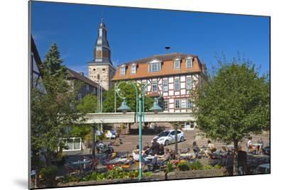 Germany, Hessen, Northern Hessen, Bad Zwesten, Old Town, City Hall, Restaurant-Chris Seba-Mounted Photographic Print