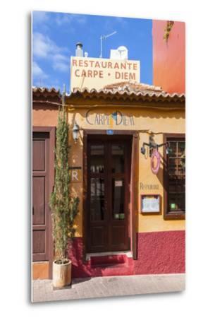 Colourful Houses, Tazacorte, La Palma, Canary Islands, Spain, Europe-Gerhard Wild-Metal Print
