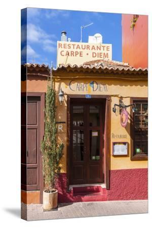 Colourful Houses, Tazacorte, La Palma, Canary Islands, Spain, Europe-Gerhard Wild-Stretched Canvas Print