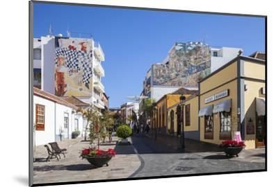 Pedestrian Area in the Old Town of Los Llanos, La Palma, Canary Islands, Spain, Europe-Gerhard Wild-Mounted Photographic Print