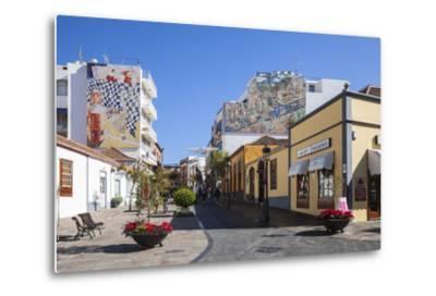 Pedestrian Area in the Old Town of Los Llanos, La Palma, Canary Islands, Spain, Europe-Gerhard Wild-Metal Print