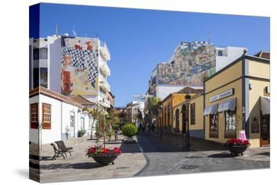 Pedestrian Area in the Old Town of Los Llanos, La Palma, Canary Islands, Spain, Europe-Gerhard Wild-Stretched Canvas Print
