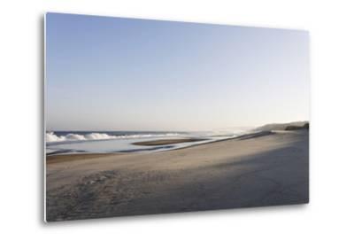 Gentle Light at Sunrise, Surf, Portuguese Atlantic Coast, Praia D'El Rey, Province Obidos, Portugal-Axel Schmies-Metal Print