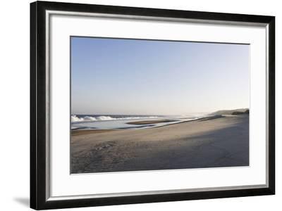 Gentle Light at Sunrise, Surf, Portuguese Atlantic Coast, Praia D'El Rey, Province Obidos, Portugal-Axel Schmies-Framed Photographic Print