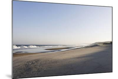 Gentle Light at Sunrise, Surf, Portuguese Atlantic Coast, Praia D'El Rey, Province Obidos, Portugal-Axel Schmies-Mounted Photographic Print