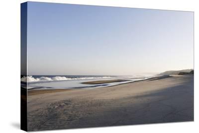 Gentle Light at Sunrise, Surf, Portuguese Atlantic Coast, Praia D'El Rey, Province Obidos, Portugal-Axel Schmies-Stretched Canvas Print