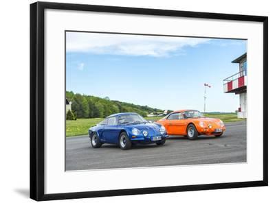Michelstadt, Hesse, Germany, Renault Alpine a 110 Sx, Blue-Bernd Wittelsbach-Framed Photographic Print