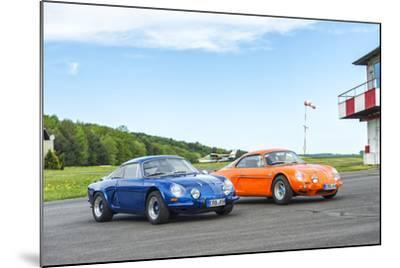 Michelstadt, Hesse, Germany, Renault Alpine a 110 Sx, Blue-Bernd Wittelsbach-Mounted Photographic Print
