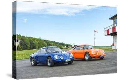 Michelstadt, Hesse, Germany, Renault Alpine a 110 Sx, Blue-Bernd Wittelsbach-Stretched Canvas Print