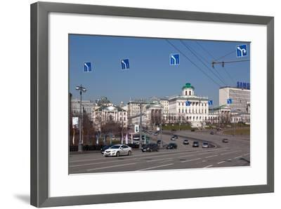 Moscow, Boulevard to the Greater Stone Bridge, Traffic-Catharina Lux-Framed Photographic Print