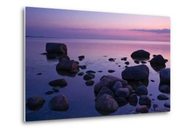 Fehmarnsund, Baltic Sea, Evening-Thomas Ebelt-Metal Print