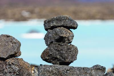 Peninsula Reykjanes, Blue Lagoon, Cairn-Catharina Lux-Framed Photographic Print