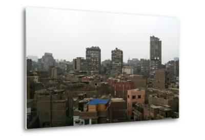 Egypt, Cairo, Old Town, View from Bab Zweila-Catharina Lux-Metal Print