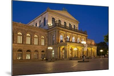 Germany, Lower Saxony, Hannover, Landestheater, Evening-Chris Seba-Mounted Photographic Print