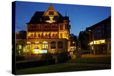 Germany, Lower Saxony, Harz, Bad Sachsa, Best Western Hotel, Evening-Chris Seba-Stretched Canvas Print