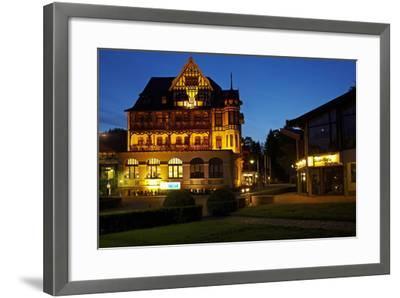 Germany, Lower Saxony, Harz, Bad Sachsa, Best Western Hotel, Evening-Chris Seba-Framed Photographic Print
