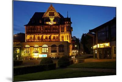 Germany, Lower Saxony, Harz, Bad Sachsa, Best Western Hotel, Evening-Chris Seba-Mounted Photographic Print