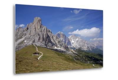 Italy, South Tyrol, the Dolomites, Passo Giau, Ra Gusela, Tofana-Alfons Rumberger-Metal Print