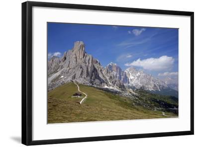 Italy, South Tyrol, the Dolomites, Passo Giau, Ra Gusela, Tofana-Alfons Rumberger-Framed Photographic Print
