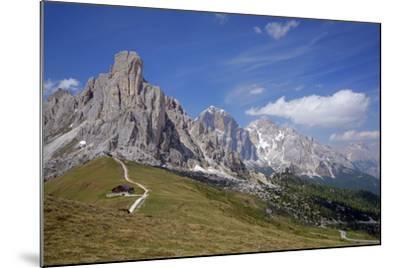 Italy, South Tyrol, the Dolomites, Passo Giau, Ra Gusela, Tofana-Alfons Rumberger-Mounted Photographic Print