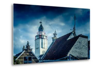The Netherlands, Frisia, Harlingen, Harbour, Lighthouse-Ingo Boelter-Metal Print