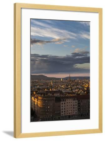 Austria, Vienna, Town View, Overview, St. Stephan's Cathedral, Karlskirche (St. Charles's Church-Gerhard Wild-Framed Photographic Print