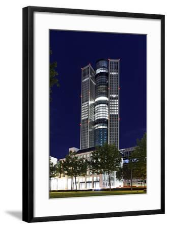 Tower 185, Dusk, Theodor-Heuss-Allee, District Gallus, European District-Axel Schmies-Framed Photographic Print