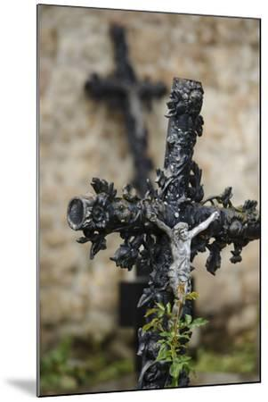 France, Basse-Normandy, Manche, Cemetery of the Abbey Mont-Saint-Michel, Crucifix-Andreas Keil-Mounted Photographic Print