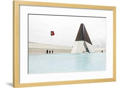 Monumento Aos Combatentes Da Guerra Do Ultramar, Belem War Monument, Guard, Belem District, Lisbon-Axel Schmies-Framed Photographic Print